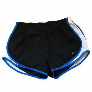 NIKE running shorts - black/royal blue, large